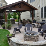 outdoor patio with covered area