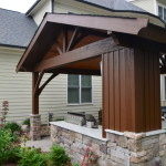 covered patio with landscaping