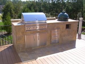 Cary, NC custom grill island