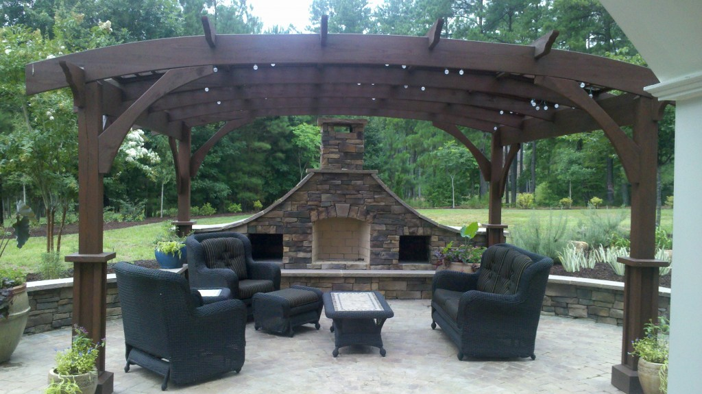 Cary pergola and fireplace - Pergola And Fireplace