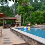 Pavers by the pool and patio