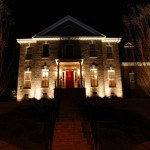 Landscape lighting for Raleigh front foundation