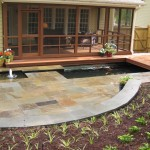 Raleigh bluestone patio and koi pond