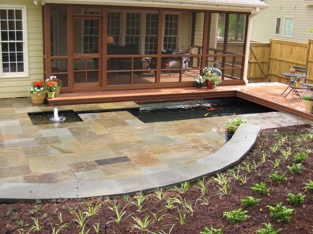 Raleigh Bluestone Patio Koi Pond